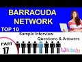 BARRACUDA NETWORK top most important interview questions and answers for freshers / experienced