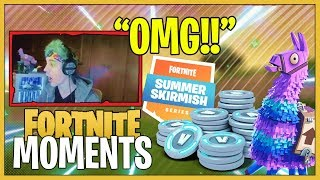 LOOT LLAMA GLITCH?? Epic Fortnite Moments Of The Day (V-Bucks Giveaway)