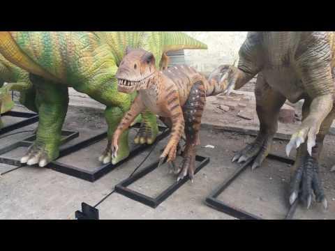 Dinosaur Theme Park Remote Control Animatronic Raptor Dinosaur