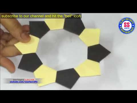 Make Awesome Photo frame out of colour paper|kids crafts|ssartscrafts