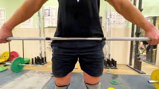 Правильный рывок и не болит лобок Тяжелая атлетика