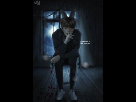 Bts Jungkook Bad Bunny Speed Art Photoshop Youtube