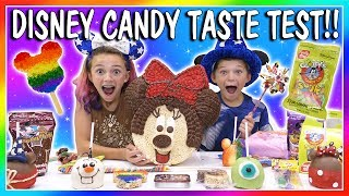😋DISNEY CANDY HAUL TASTE TEST😋| We Are The Davises