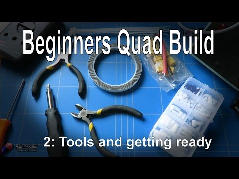 (2/9) Quadcopter Building for Beginners - Looking at the tools you need and before you start..