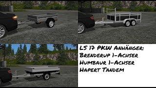 PKW Anhänger Brenderup, Humbaur, Hapert Modvorstellung (LS 17)