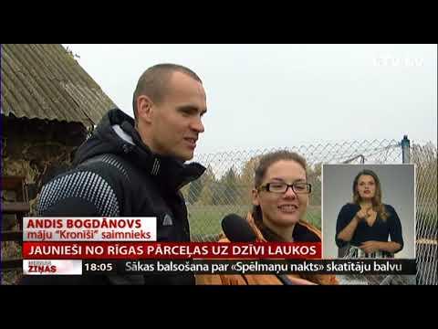 Jaunieši no Rīgas pārceļas uz dzīvi laukos