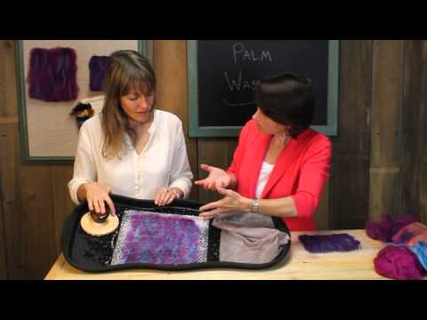 Easy wet felting with Palm Washboard