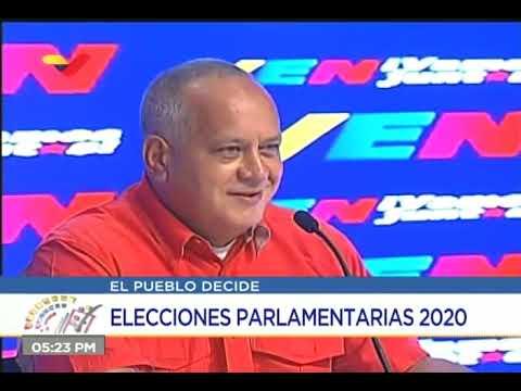 Diosdado Cabello, declaraciones en las elecciones parlamentarias del 6 de diciembre 2020 en la tarde