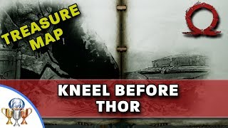 God of War Treasure Map - Kneel Before Thor - Map and Dig Spot Locations