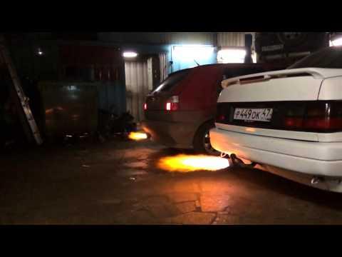 Огонь из выхлопной трубы VW