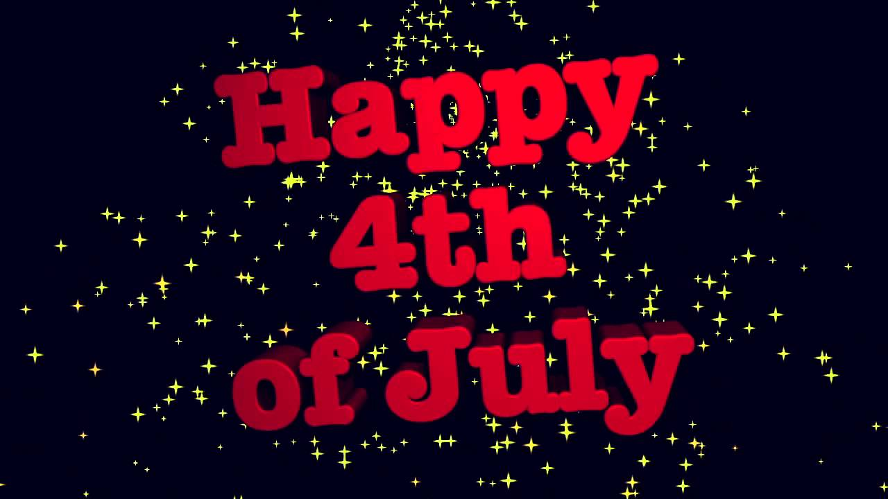 Happy 4th Of July With Animated 3d Text Youtube