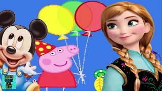 Baby Peppa Pig  Mickey Mause And Elsa Enjoyable Puzzle Game For Kids Juegos De Puzzle Para Niños