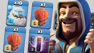 First Attack With Ice Golem, Stone Slammer and Bat Spell | Clash of Clans - COC