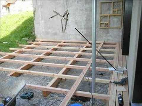 garden decking laying decking youtube