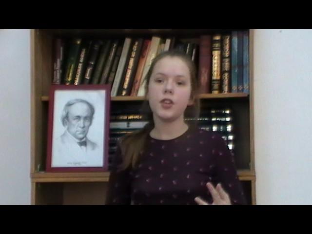 Изображение предпросмотра прочтения – МарияПивоварчук читает произведение «На юбилей Н.М. Карамзина» Ф.И.Тютчева