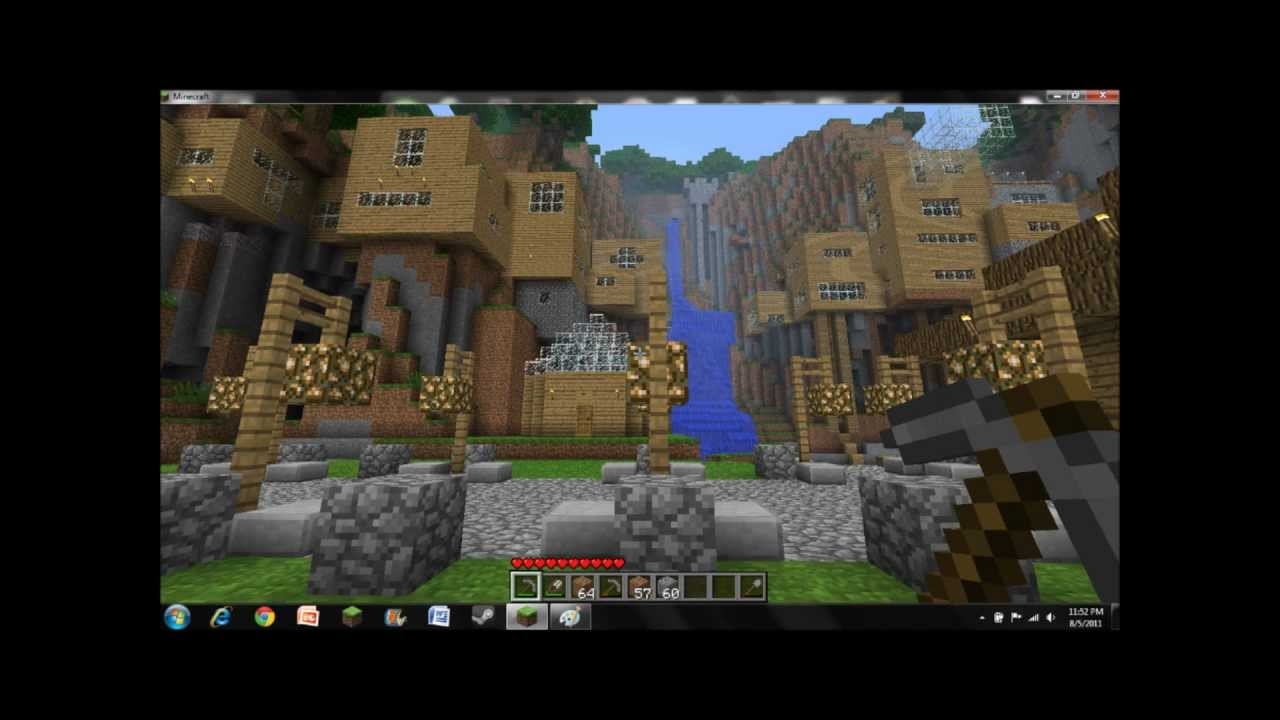 Amazing Minecraft Cliff House Village YouTube