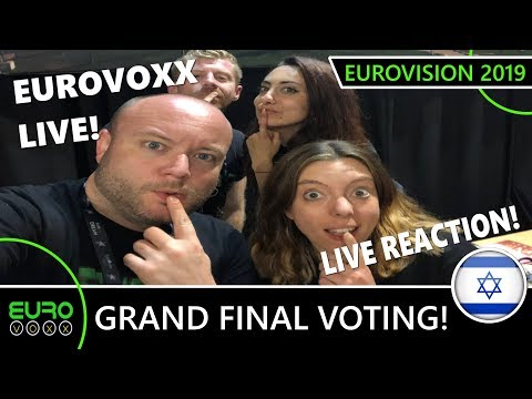 EUROVISION 2019 FINAL VOTING (REACTION) | EUROVOXX LIVE