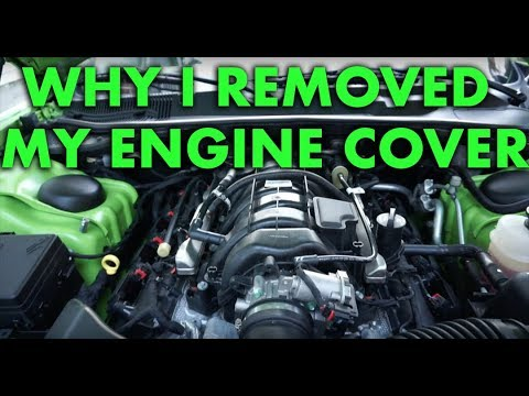 Why I removed my plastic engine cover. Challenger R/T 5.7 HEMI