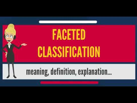 What is FACETED CLASSIFICATION? What does FACETED CLASSIFICATION mean?