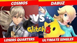 Glitch 8 SSBU - TL | Dabuz (Rosalina, Olimar) Vs. Cosmos (Inkling, Corrin) Smash Ultimate L Quarters
