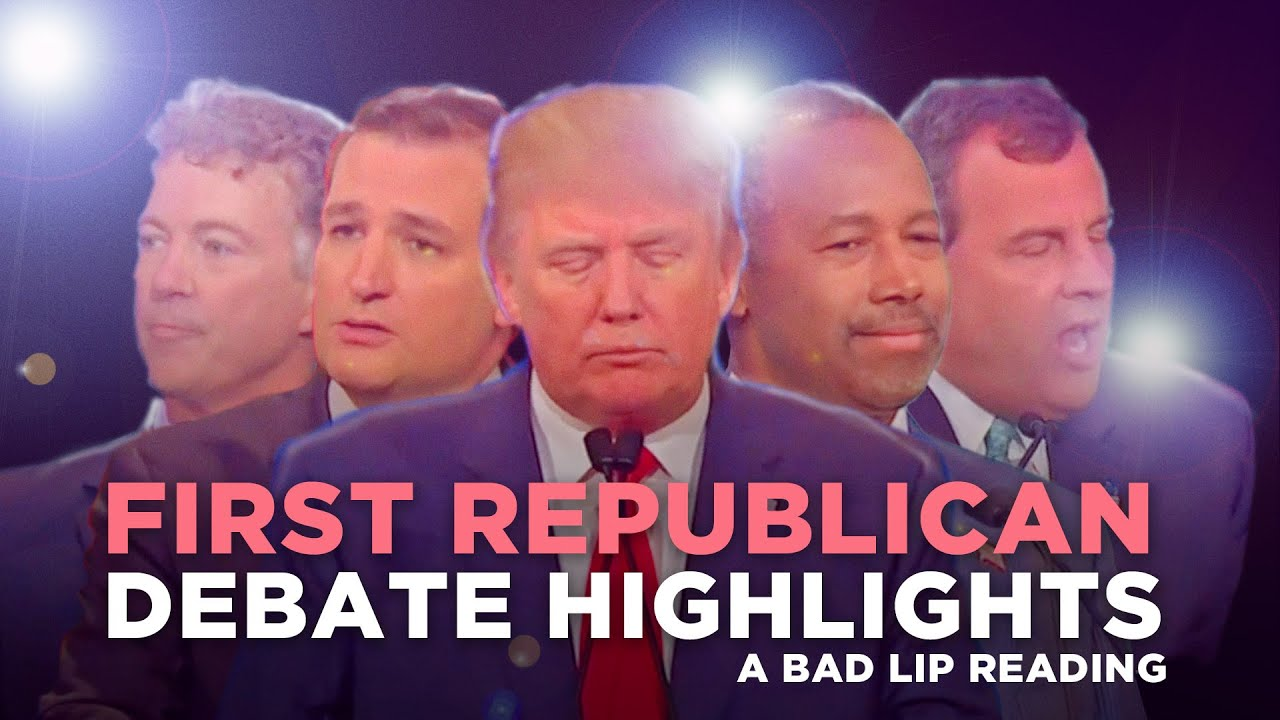 """FIRST REPUBLICAN DEBATE HIGHLIGHTS: 2015"" — A Bad Lip Reading of The Republican Debate"