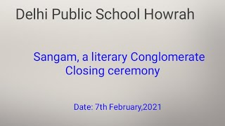 Sangam, a literary conglomerate- closing ceremony