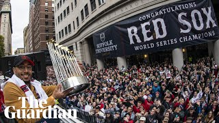 Boston Red Sox celebrate emphatic World Series win with victory parade