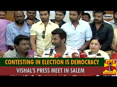 """Contesting Nadigar Sangam Election is Democracy"" - Vishal Press Meet in Salem - Thanthi TV"