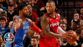 Paul George, Russell Westbrook Help Thunder Outlast Trail Blazers | Nba Highlights