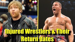 10 INJURED WWE Wrestlers And Their Expected RETURN Dates! - Dean Ambrose, Jason Jordan & More!