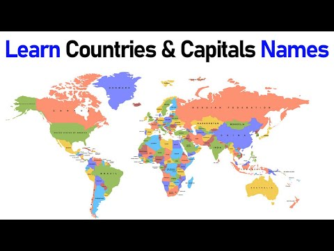 Learn Countries & Its Capitals Names | World Map | General Knowledge Video | Simple Way To Learn