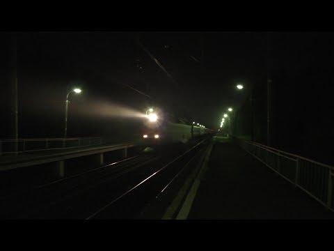 Электровоз ЧС7 с поездом № 039 Москва - Полоцк