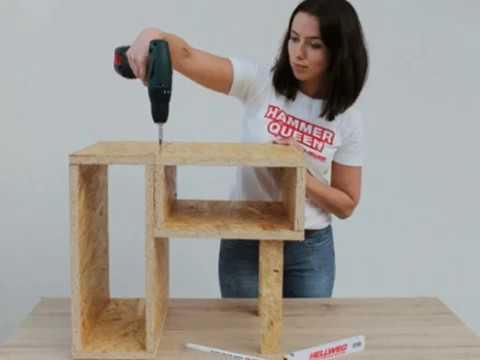 Как сделать тумбочку из фанеры OSB
