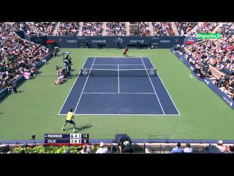R.Federer vs M.Cilic US Open 2011 HD