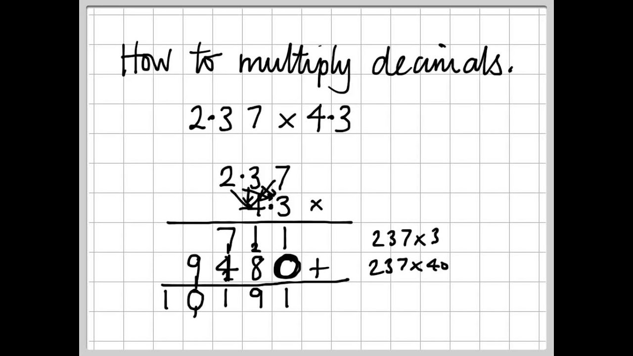 Worksheet How To Multiply Long Decimals a4 long multiplication with decimals youtube decimals