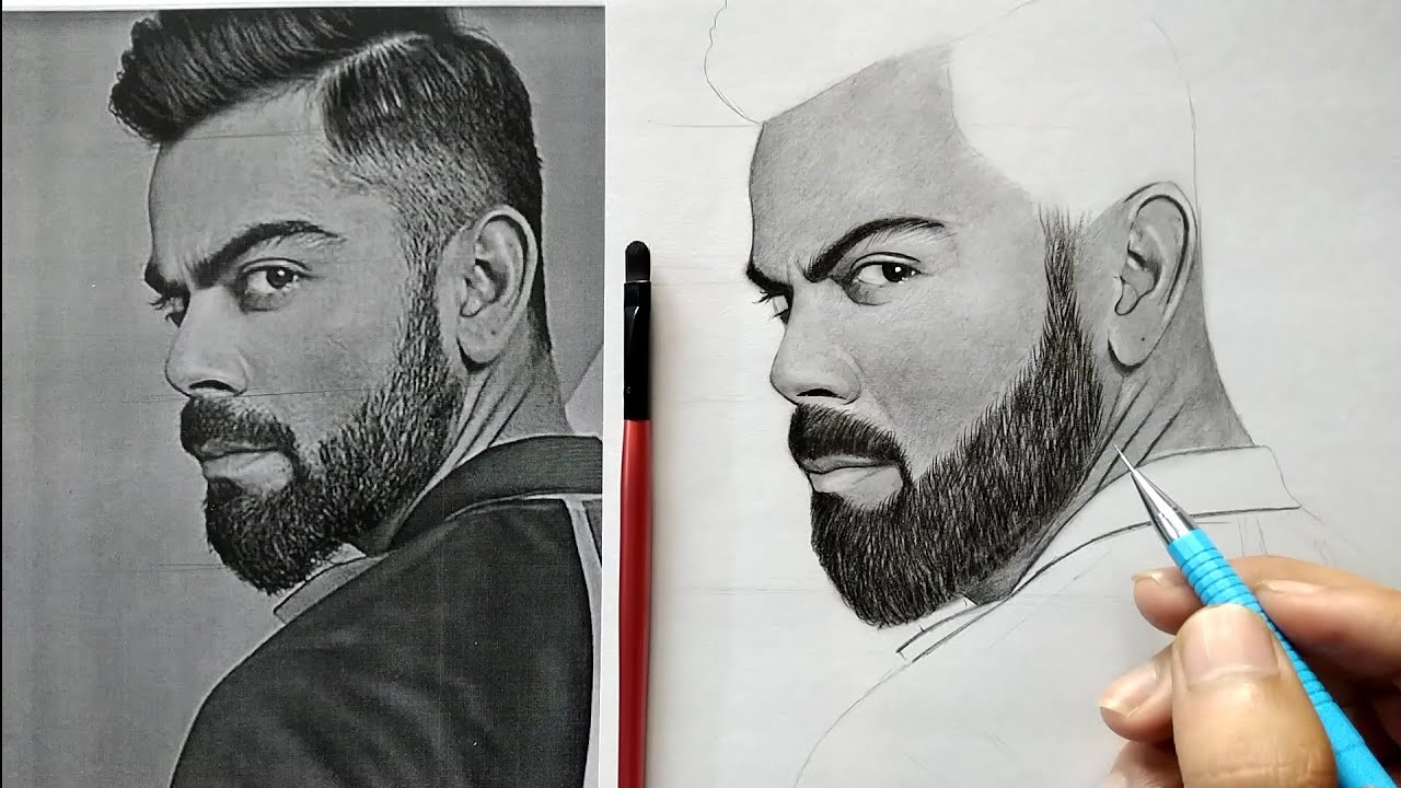 How To Draw Virat Kohli Step By Step