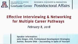 Effective Interviewing and Networking for Multiple Career Pathways