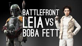 Star Wars Battlefront: Princess Leia vs Boba Fett - JETPACK CALAMITY