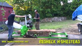 Sawing Elm with the Harbor Freight Sawmill - Review & Some Observations | Redneck Homestead