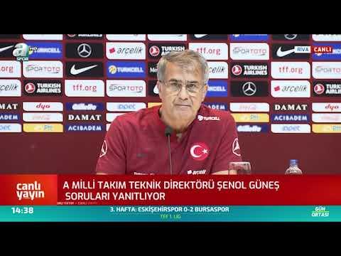 Şenol Güneş Basın Toplantısı / A Spor / 02.09.2019