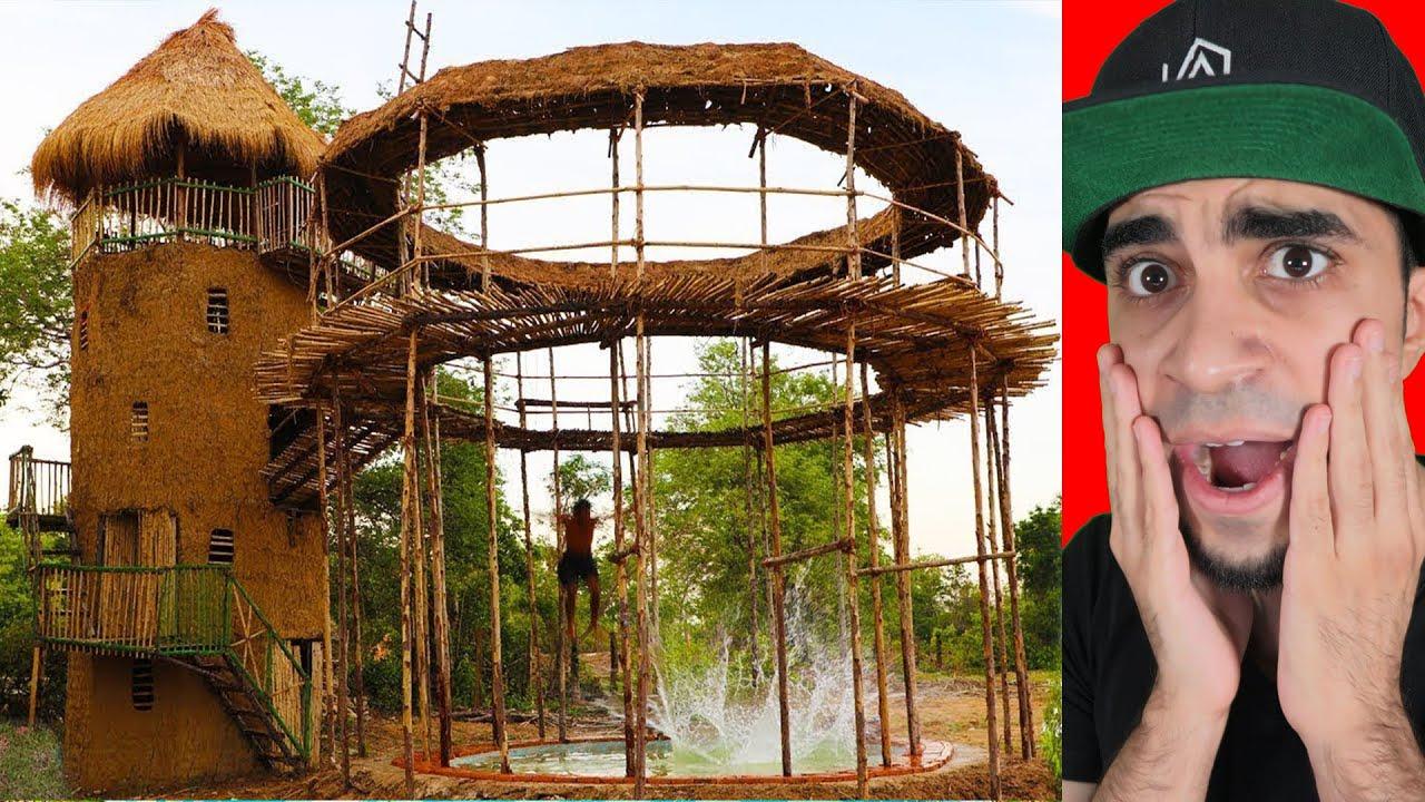 رجل الغابة يبني برج عملاق وسط الغابة !!