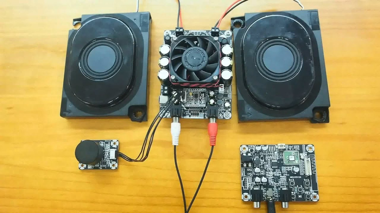 How To Connect Bluetooth Receiver Board/Volume Control Module To WONDOM  Amplifier