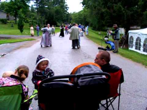 Dance demonstration at Centreville, Ontario on August 16, 2014 - Oxford at War 1814 Bicentennial