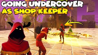 Going UnderCover as Shop Keeper! 💯😱 (Scammer Gets Scammed) Fortnite Save The World
