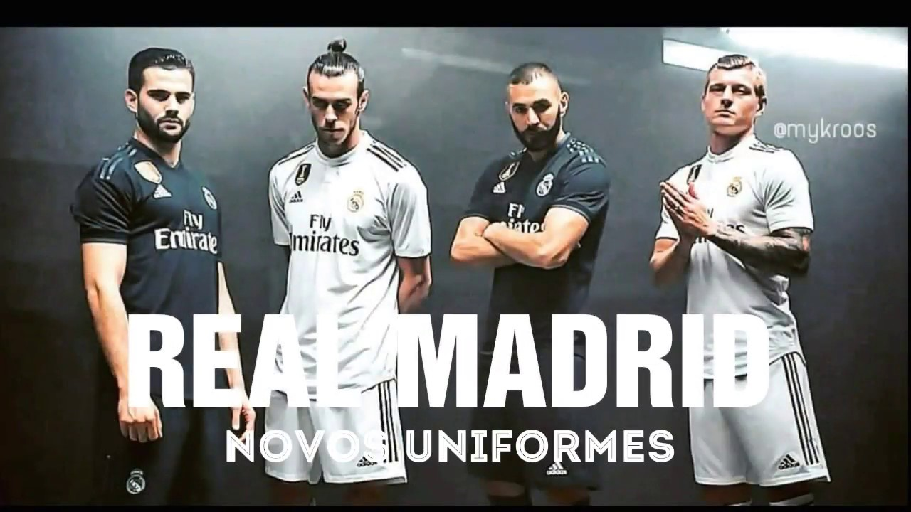 Novo uniforme do Real Madrid pra temporada 2018 2019 - YouTube c68c97b398fca