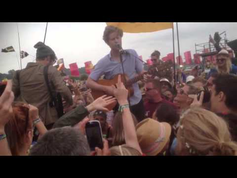 The Lumineers play in the crowd - Glastonbury Festival 2013