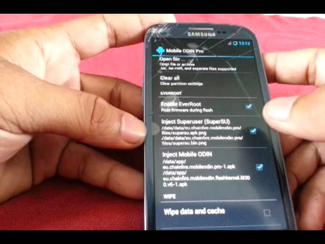 How to unroot the gt i9300 using mobile odin