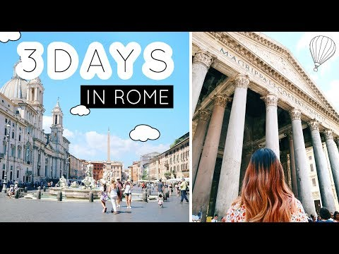 EUROPE TRAVEL VLOG #28: 3 days in Rome pt 2/4 - We saw the Pantheon and Trevi Fountain!