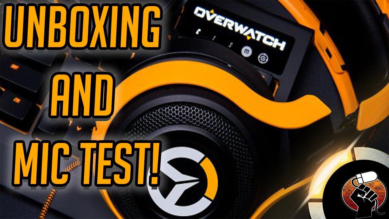 Overwatch Razer Manowar Headset unboxing + mic test!