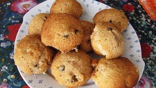Классический рецепт кексов с изюмом и шоколадной начинкой